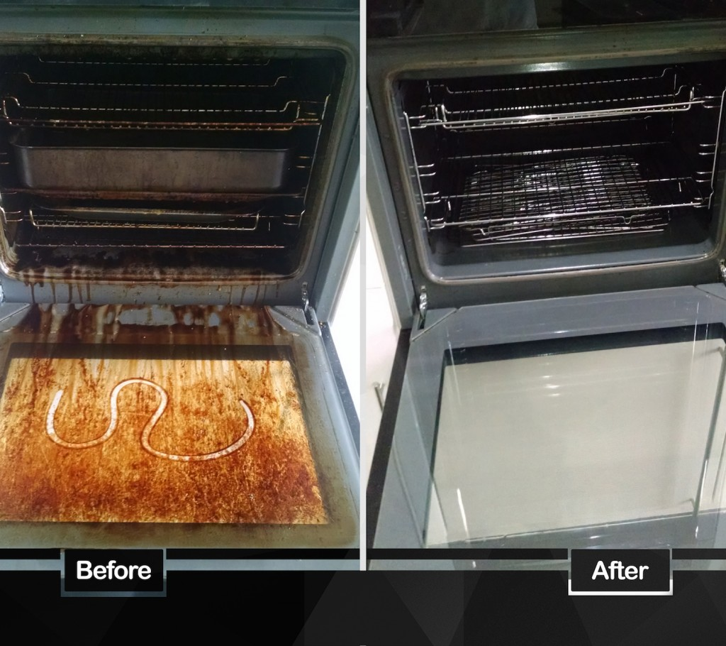 before and after oven cleaning for end of tenancy