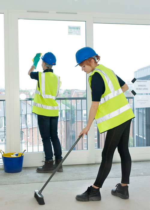 Two Cleaners working for After Builders Cleaning London