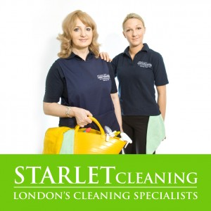 Two cleaners from the Starlet Cleaning company London