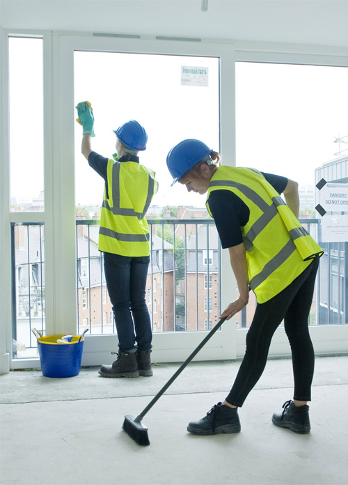 Cleaners working for Commercial Cleaning London