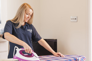 Cleaner ironing for domestic cleaning London