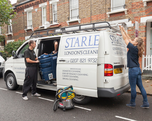 Van used for by End Of Tenancy Cleaners London